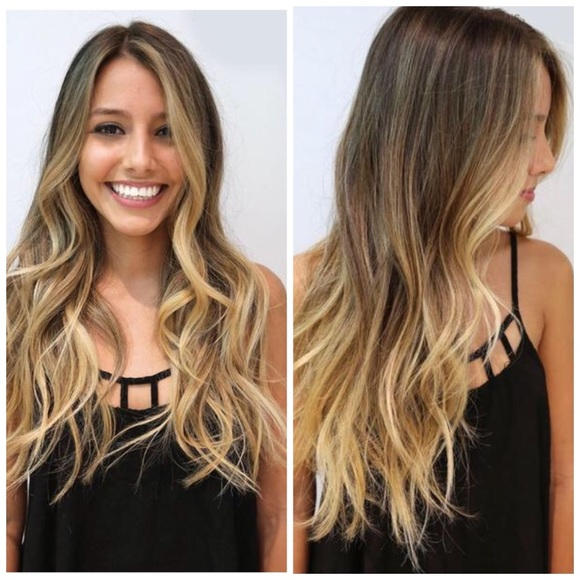 Belle Accessories Hair Extension Brown Blonde Ombr Poshmark